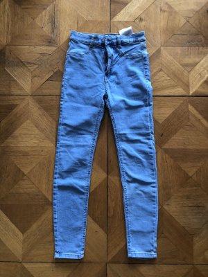 Pull & Bear Jeans taille haute bleu azur-bleu clair