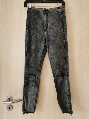 H&M Hoge taille jeans grijs-donkergrijs