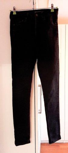 Skinny High-Waist Jeans von H&M, schwarz, Gr. 28/30