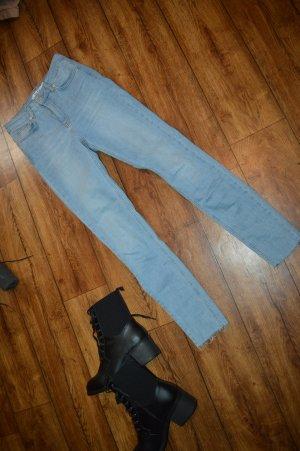 Skinny High Waist Raw Hem Jeans Nakd 36