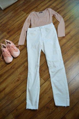Nakd Jeans a vita alta bianco