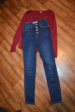 Nakd Jeans a vita alta blu scuro