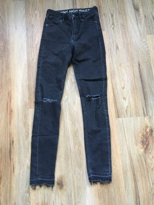 H&M Divided Jeans a vita alta nero