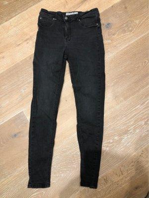 Amisu Jeans a vita alta nero