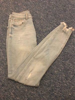 Primark Jeans taille haute bleu clair