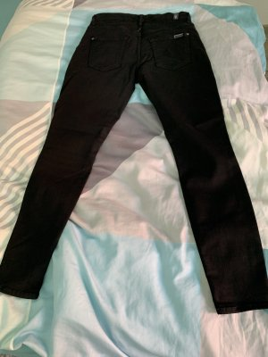 7 For All Mankind Peg Top Trousers black