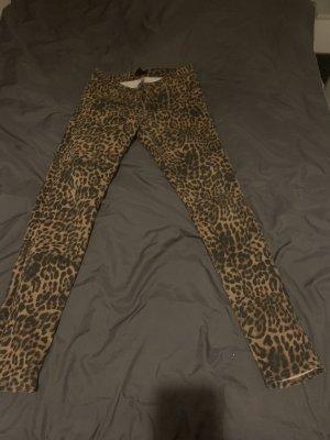 Skinny Hose  High-Waist Leoprint