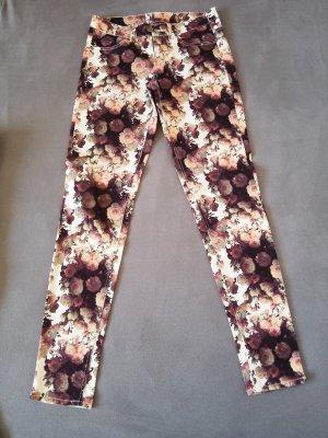 H&M Divided Pantalon cinq poches multicolore coton