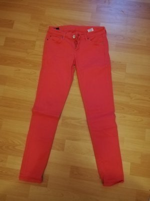 Pepe Jeans London Stretch Trousers bright red