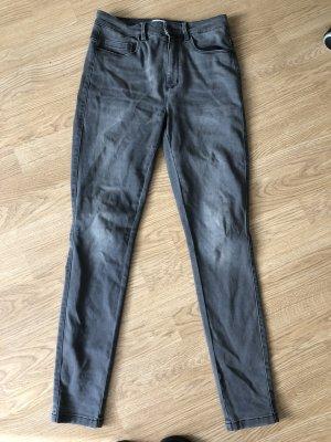 Only Hoge taille jeans grijs-donkergrijs