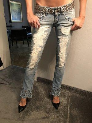 MET Jeans skinny blu pallido