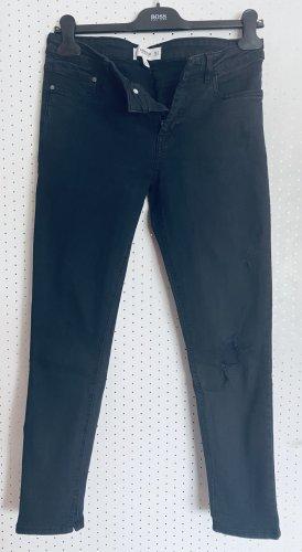Mango 7/8 Length Jeans black-dark grey cotton