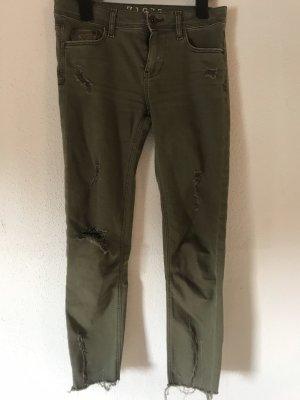 Mango Skinny jeans khaki-groen-grijs
