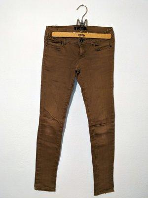 Skinny Jeans braun