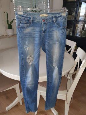 Jeans slim fit grigio ardesia