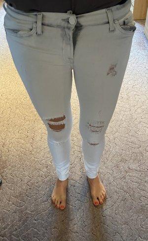 Skinny Jeans destroyed offwhite Gr. 27