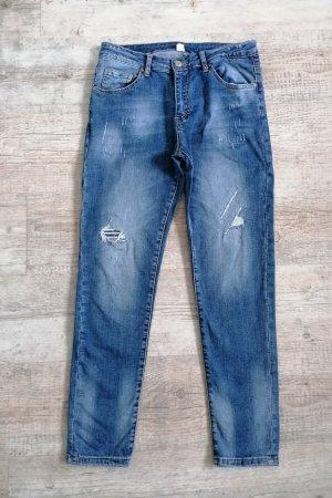 Skinny-Jeans Destroyed Stretch Gr. 38
