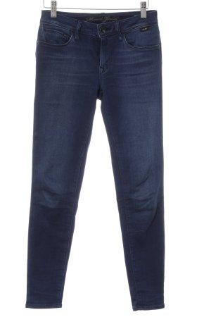 Skinny Jeans dunkelblau meliert Casual-Look