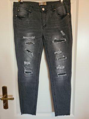 Skinny Jeans dunkelgrau Größe 42