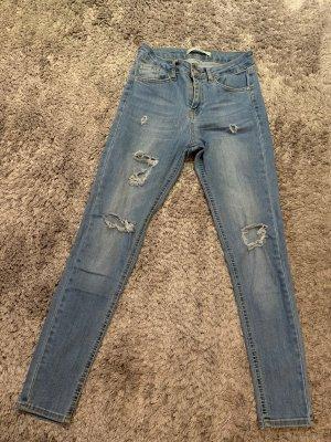 addax Skinny jeans leigrijs