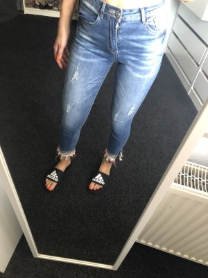 Skinny Jeans Fransen