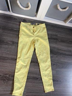 Skinny Jeans gelb, Reißverschluss Röhrenjeans Vero Moda