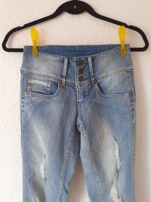 Skinny Jeans Größe 32 von Pieces blau