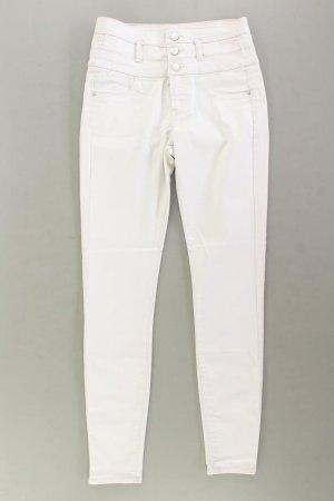Skinny Jeans Größe 34/36 creme aus Baumwolle