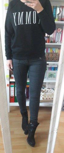 Skinny Jeans Hose Röhre black