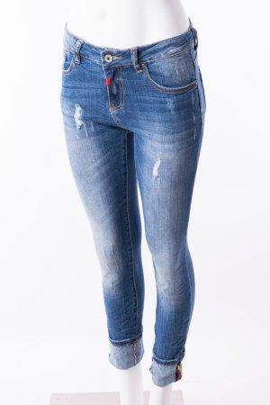 Skinny Jeans im Used-Look Gr. S