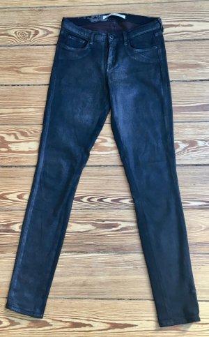 Skinny Jeans in Lederoptik