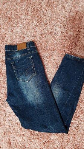 Skinny Jeans mid waist used look denim S