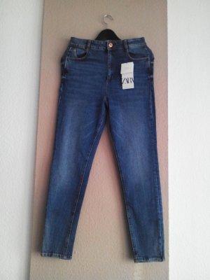 Skinny Jeans mit hohem Bund, Grösse 38, neu