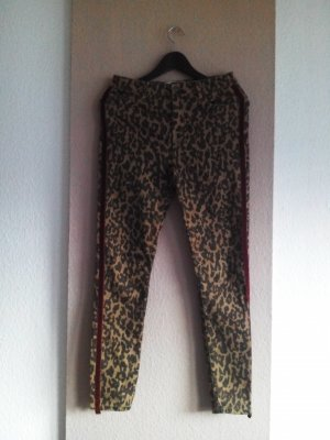 Skinny Jeans mit hohem Bund in Animalprint, Grösse 38