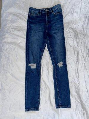 ASOS DESIGN Petite Jeans skinny bleu foncé-bleu
