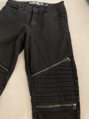 Skinny Jeans mit rockigen Reisverschluss Details