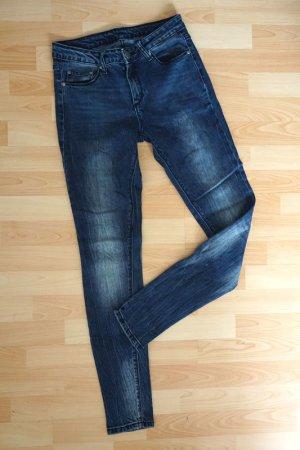 Amisu Jeans skinny bleu foncé