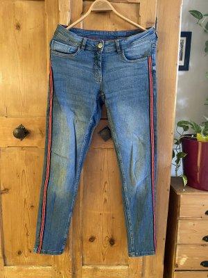 Skinny Jeans mit Streifen an der Seite
