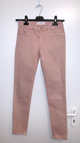 Skinny-Jeans peachfarbend