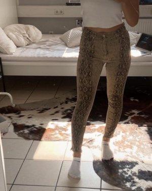 Skinny Jeans Schlangenprint