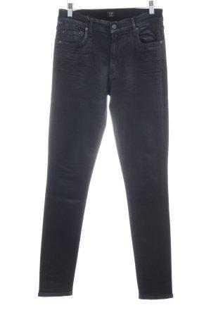 Skinny Jeans schwarz Logo-Applikation