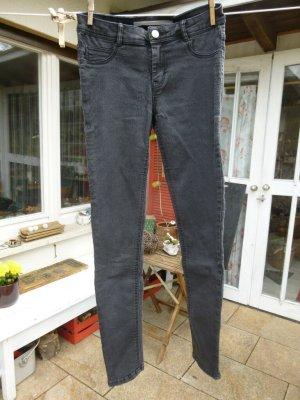 Skinny Jeans Schwarz Dunkelgrau Gr. XS Gr. 34