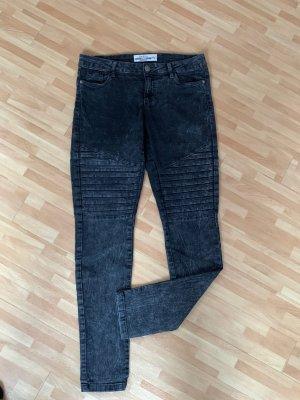 Skinny Jeans schwarz/grau