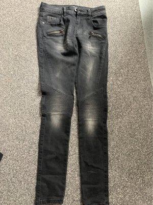 Lexxury Jeansy typu biker czarny-ciemnoszary