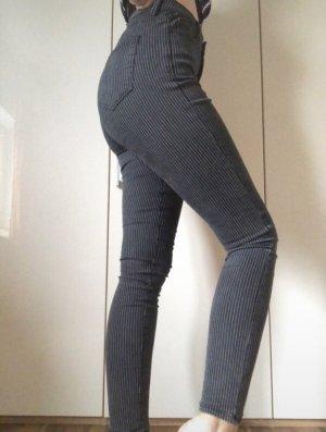 Skinny Jeans Schwarz Mit Weißen Streifen