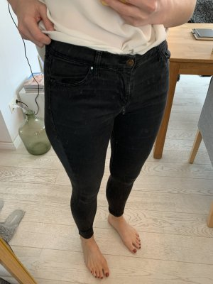 Topshop Skinny jeans zwart-antraciet