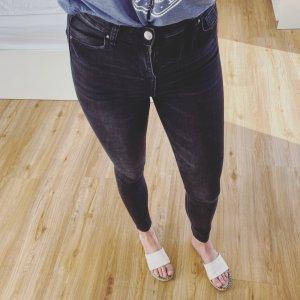 Skinny Jeans verwaschenes schwarz