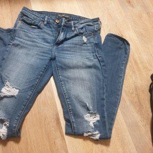 Abercrombie & Fitch Jeans elasticizzati blu acciaio