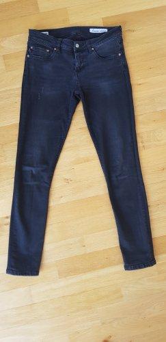Blauer USA Jeansy o obcisłym kroju czarny-antracyt