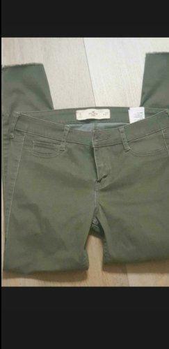Hollister pantalón de cintura baja gris verdoso